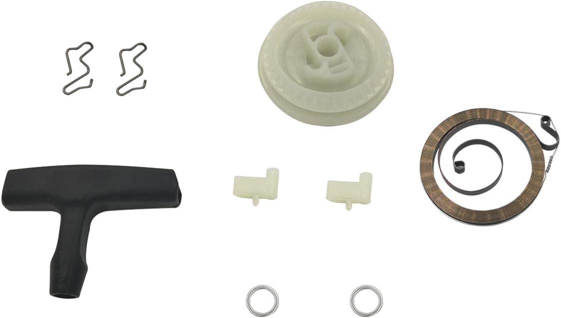 Juego de arandela de Resorte con manivela de Arranque polea de Arranque de Retroceso para Stihl 017 018 MS170 MS180 Motosierra