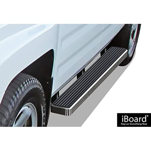 APS iBoard (Silver 5 inches) Running Boards | Nerf Bars | Side Steps | Step Rails for 2006-2014 Honda Ridgeline Crew Cab Pickup 4-Door for cheap