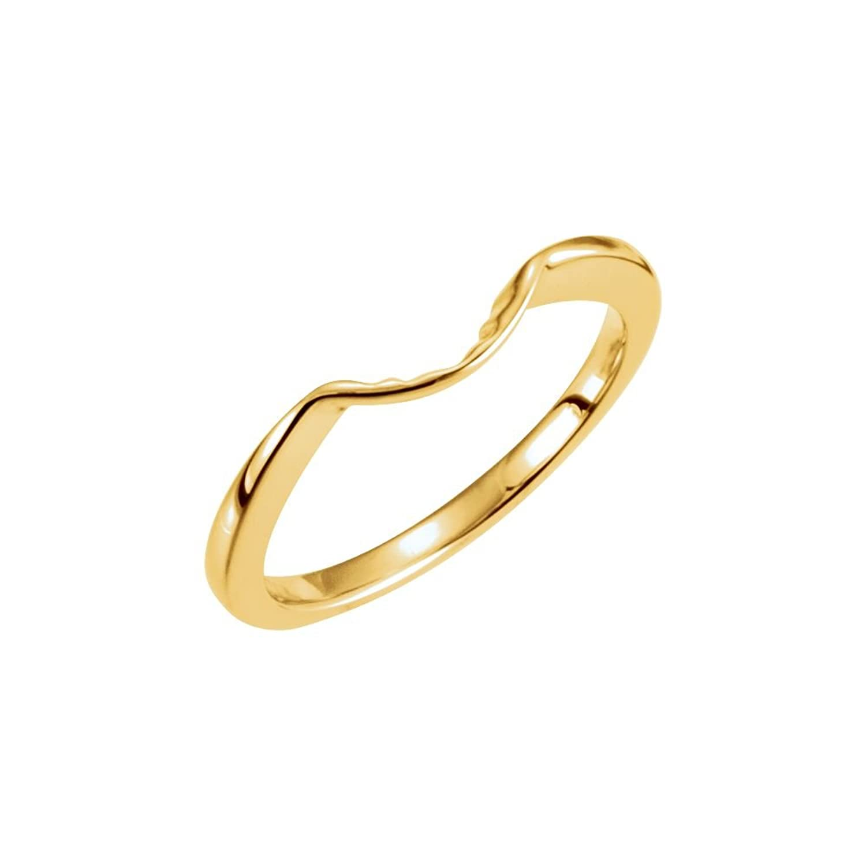 Suhana Jewellery 14K Yellow Gold Fn Round Cut White Simulated Diamond Engagement Wedding Ring