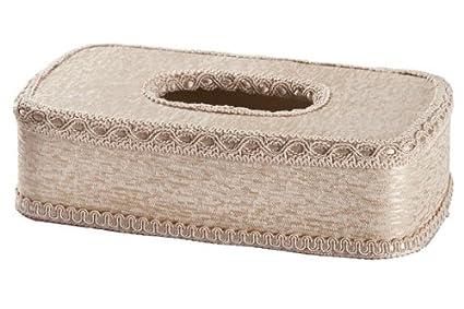 Decorative Tissue Box Cover (Sliver Beige)