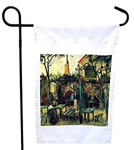 Rikki Knight Van Gogh Art Terrace Of a Cafe House or Garden Flag with 11 x 11-Inch Image, 12 x 18-Inch