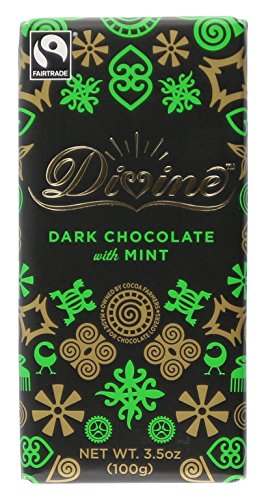Divine Chocolate Dark Chocolate Bar, Mint, 3.5 oz