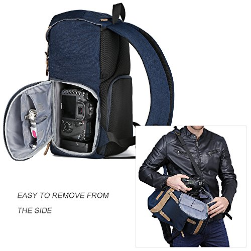 51GafEAusHL - K&F Concept Multi-Functional Camera Backpack 600D Polyester Waterproof Photography Equipment Travel Bag for Tripod,DSLR Canon Nikon Sony and Accessory with Rain Cover