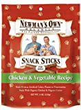 Newman's Own Organics Snack Sticks, Chicken and Vegetable, 4-Ounce Packages (Pack of 6), My Pet Supplies