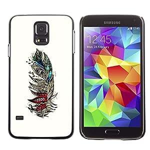 Be Good Phone Accessory // Dura Cáscara cubierta Protectora Caso Carcasa Funda de Protección para Samsung Galaxy S5 SM-G900 // Art Drawing Painting Pencil