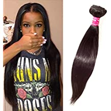 Virgin REMY STRAIGHT Brazilian Bundle Hair Virgin Hair Weave Extension Weft Track GREAT DEAL 100 Human Hair GUARANTEED or Beautiful Natural Black Color -18""