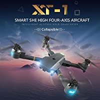 Fytoo YD XT-1 folding four-axis high-altitude 2.4g remote controll quadcopter with 6-Axis Gyro 720p wide-angle HD real-time aerial remote control aircraft grey