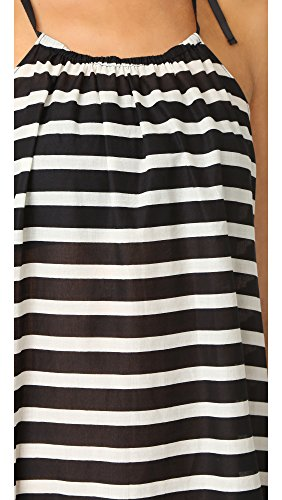 Kate Spade New York Women's Striped Cover Up Dress, Black, M/L