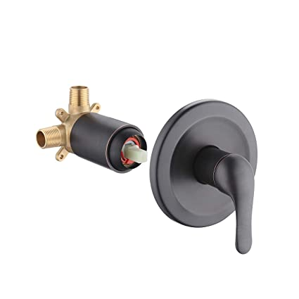 Anti Scald Shower Valve.Kes Pressure Balance Shower Faucet Set Brass Shower Valve Anti Scald Rough In Concealed Valve Stainless Steel Trim Plate Oil Rubbed Bronze