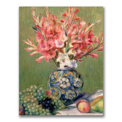 (Still Life Of Fruit And Flowers by Pierre Renoir, 24x32-Inch Canvas Wall Art)