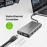 Omars USB C Hub, 11 in 1 Type C Adapter Docking