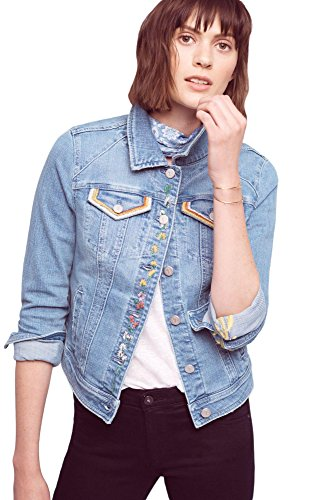 Co Embroidered Denim Jacket - 8