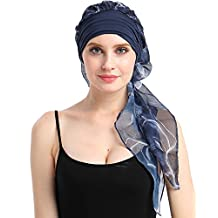 Easy Tie Cancer Beanies Head Scarves Alopecia Hats For Chemo