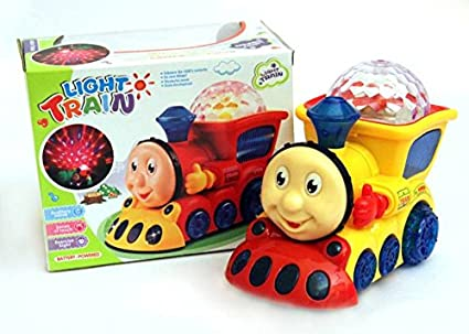 buy blossom light train toy with amazing 3d lights bump go