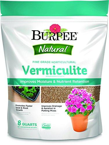 Vermiculite Potting Soil - Burpee 99962 8 Qt Vermiculite Fine Grade Horticultural, 8 quart