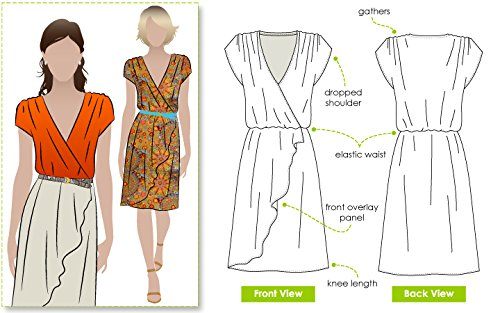 (Style Arc Sewing Pattern - Mia Dress (Sizes 18-30) - Click for Other Sizes Available)