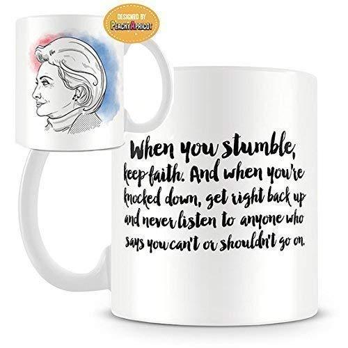 - PeachyApricot Hillary Clinton Motivational 11oz Coffee Mug