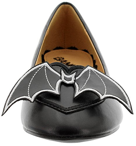 Banned Ballerinas Bat 228 Black Black