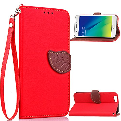 - TOTOOSE For Oppo A57 Case, [Extra Card Slot] [Wallet Case] PU Leather TPU Casing Leather Covers for [Drop Protection] Cover for Oppo A57, Red