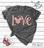 Disney Love Shirts, Love Minnie Shirt, Glitter Rose Gold Minnie Shirt, Womens Unisex Disney T-Shirt