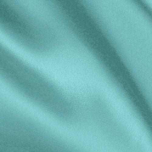 Ben Textiles Stretch Charmeuse Satin Aqua Fabric By The Yard