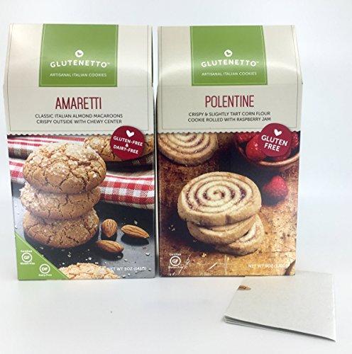 Gluten Free Cookies Glutenetto Amaretti Macaroons And Gourmet Polentine Plus a Bonus Free Gluten/Nut Free 3- Item Candy Recipe from Z-Organics. Great Healthy Bundle (2 Items +)