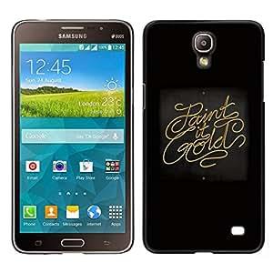 // PHONE CASE GIFT // Duro Estuche protector PC Cáscara Plástico Carcasa Funda Hard Protective Case for Samsung Galaxy Mega 2 / Paint It Gold /