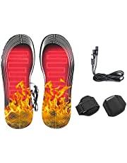 Cambbiy Verwarmde binnenzool voetwarmer,volledige voet verwarming inlegzolen elektrische verwarming inlegzolen, vrouwen mannen winter jacht skiën vissen wandelen houden voeten warm, oplaadbaar
