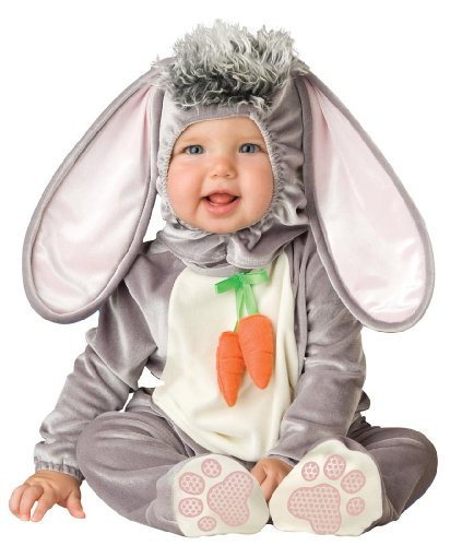 Baby Bunny Costumes (Lil Characters Unisex-baby Newborn Infant Rabbit Costume, Grey/White/Pink, Small)