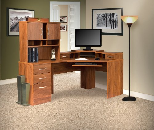 American Furniture Classics Reversible Corner Work Center with Hutch - Corner Computer Center