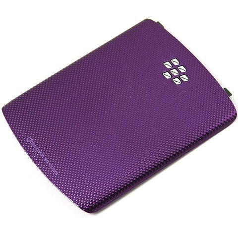[Purple] Original OEM Genuine Battery Back Door Plate Panel Cover Faceplate Panel Fascia FOR BlackBerry Curve 3G 9300