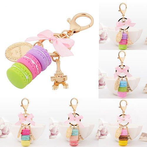 Women Fashion Macaron Cake Pendant Key Chain Purse Bag Hanging Ornament - Green GlobalDeal Direct