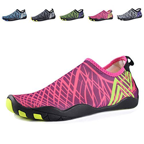 EQUICK Water Shoes Barefoot quick dry Aqua Sports Sneakers Slip on for Men Women Kids,CCY01,B.Pink,38