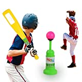 fightingfly T-Ball Set, Training Automatic Launcher Baseball Bat Toys, Safe Indoor Outdoor Sports
