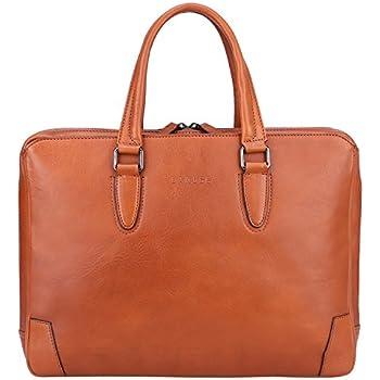 b330a4ecc345 BOSTANTEN Leather Briefcase Shoulder 15.6 Laptop Business Vintage ...
