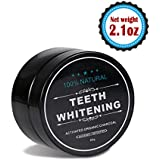 Teeth Whitening Charcoal Powder( 2.1oz)- Natural Activated Charcoal Powder Teeth Whitener of Organic Coconut Shells with Spearmint Flavor for Healthy Cleaner Whiter Teeth-Recapture Your Smile