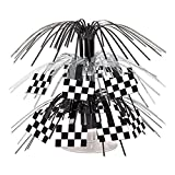 Beistle 54602 Checkered Flag 71/2-Inch Cascade Centerpiece, Mini (Value 3-Pack)