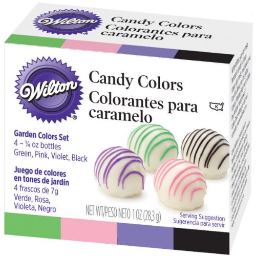 Candy Colors .25oz 4/Pkg-Pink, Green, Violet & Black
