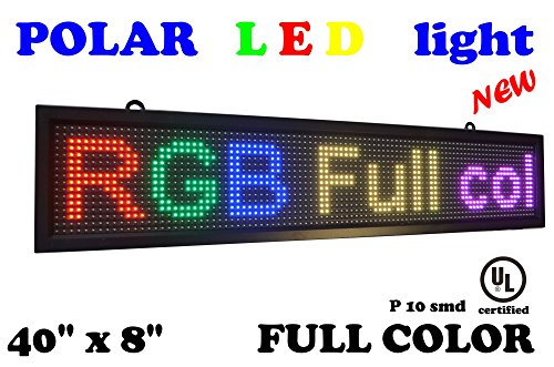 Led Rgb 7 Color Sign 40  X 8  With High New Software And New Smd Technology  Perfect Solution For Advertising
