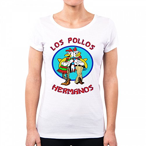White PacDesign T PD0000A Breaking Hermanos Bad Shirt Donna Los Pollos zSq6z