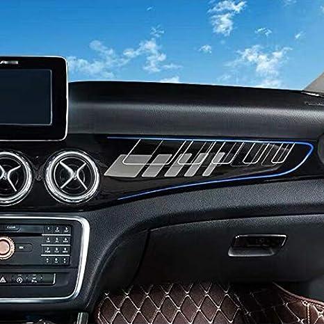 220 Red Line SHES f/ür gla cla250 w117 cla45 Carbon Style Auto Aufkleber Modified Interior Control Panel Zubeh/ör gla x156 gla amg