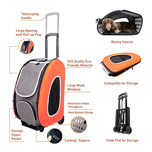 ibiyaya in Pet Carrier + + on Wheels Dogs and