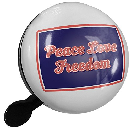 Small Bike Bell Peace Love Freedom Fourth of July Retro - NEONBLOND by NEONBLOND