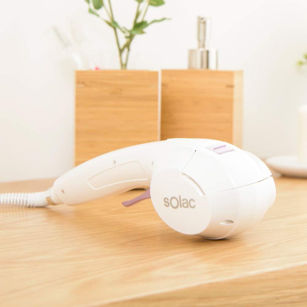 Solac MD7411 Precise Ionic Wave - Rizador de pelo automático, función iónica, recubrimiento cerámico, señales acústicas, rápido calentamiento, bolsa ...