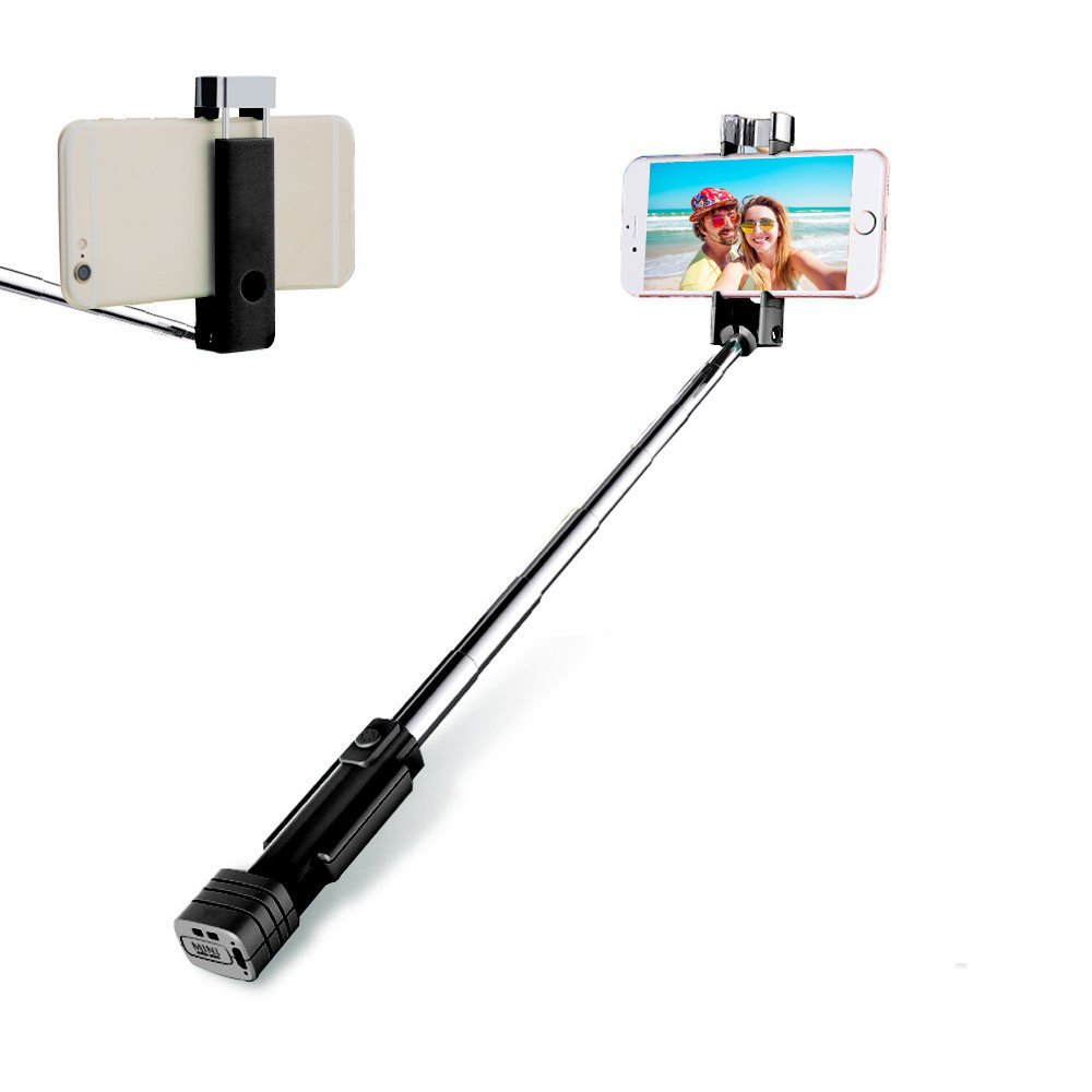 Loving Smile Bluetooth Selfie Stick Holder, Cell Phone Selfie Button Stick for iPhone, Android, Mobile Phone(Black)