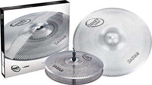 Sabian QTPC501 Quiet Tone Practice Cymbal Set -Silver- 13'/18' (QTPC501)