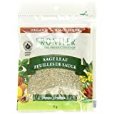 Frontier Natural Products Coop-packaged Bulk Sage Leaf Rubbed Organic 11gm Pouch French/english, 6-count