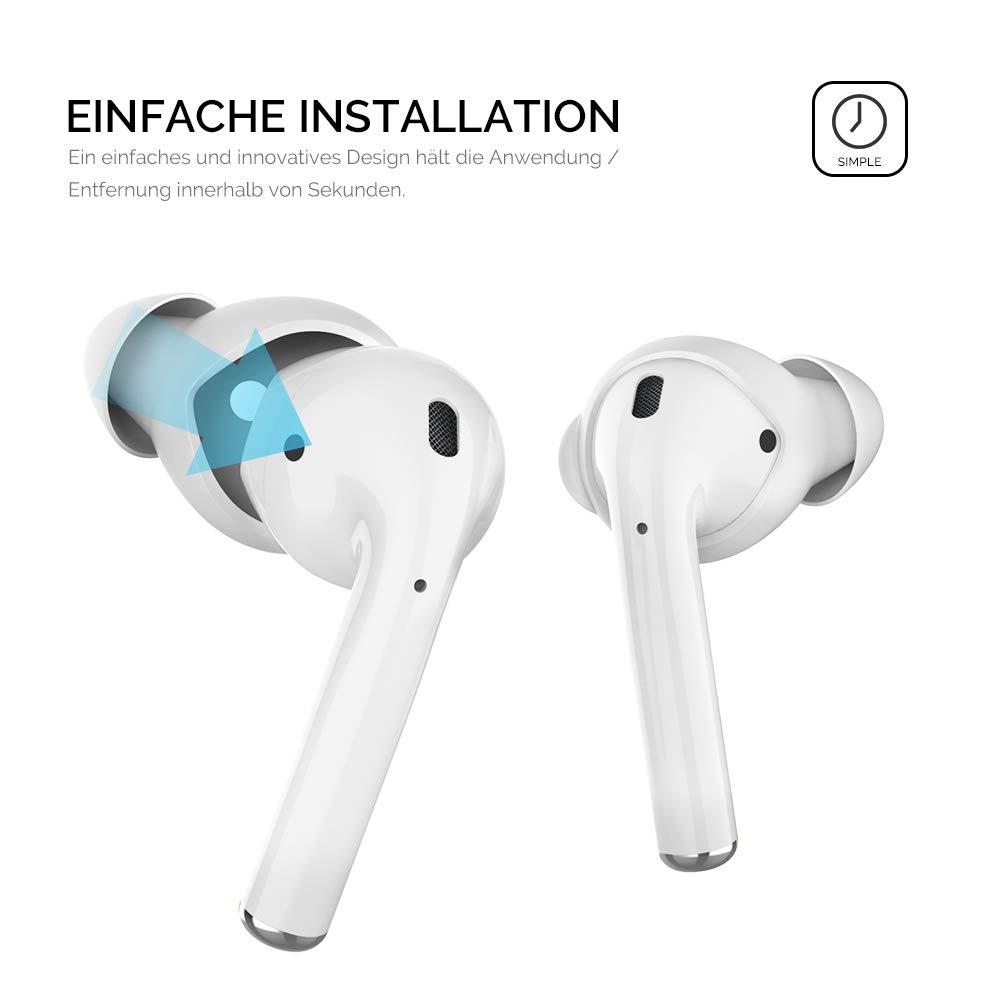 AhaStyle Lot de 3 Paires d/écouteurs en Silicone pour Apple AirPods et EarPods