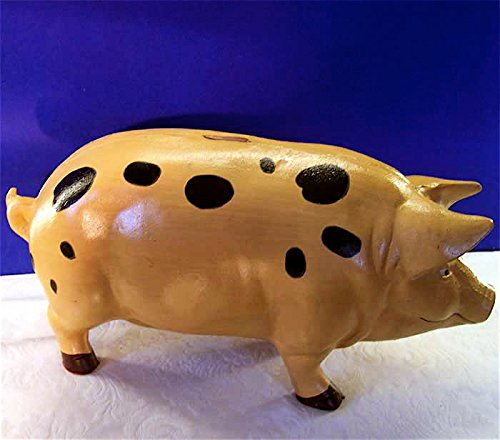 Stop Door Garden (Pink Pig Piggy Bank X-Large - Door Stop - Garden - Cast Iron)