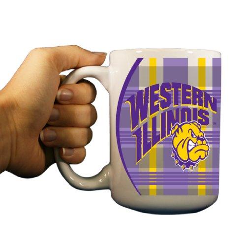 - VictoryStore Ceramic Mugs - Western Illinois University, Plaid Background Coffee Mug, 15oz